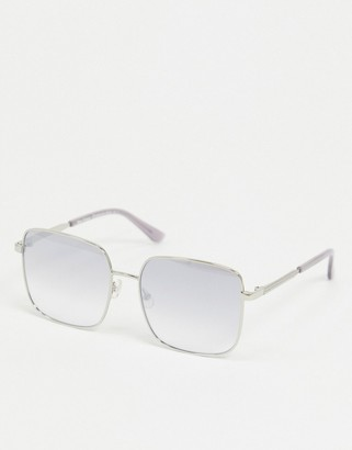 Juicy Couture square sunglasses in silver