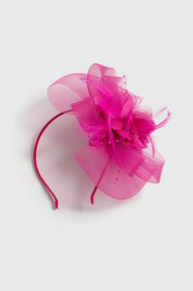 Wallis Pink Net Flower Fascinator