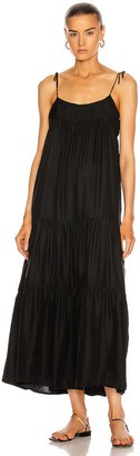 Natalie Martin Melanie Dress in Black Silk   FWRD