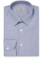 Canali - Blue Slim-fit Gingham Cotton Shirt
