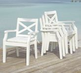 Pottery Barn Hampstead Stacking Dining Chair - White