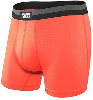 Saxx UNDERWEAR Sport Mesh Boxer Brief Fly (Black) Men's Underwear