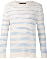 The Elder Statesman cashmere striped jumper - unisex - Cashmere - XS