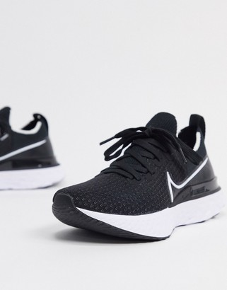 Nike Running React Infinity flyknit sneakers in black and white