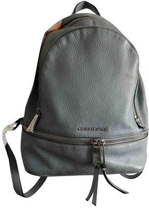 Michael Kors Rhea Blue Leather Backpacks