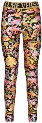 Versace Jeans Couture Printed Stretch Jersey Leggings