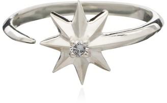 Rachel Jackson London Rockstar Diamond Ring Silver