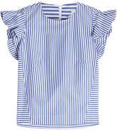 Stella Jean Striped Cotton Sleveless Blouse