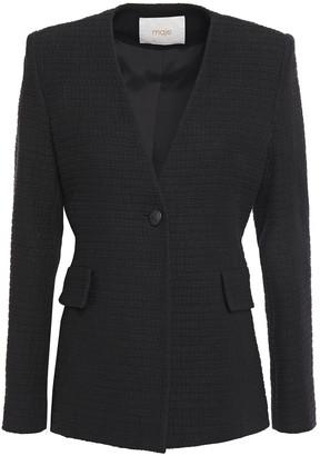 Maje Varlo Cotton-tweed Blazer