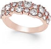Charter Club Rose Gold-Tone Crystal Cluster Statement Ring, Only at Macy's