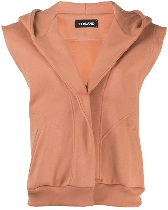 Styland Hooded Sleeveless Jacket