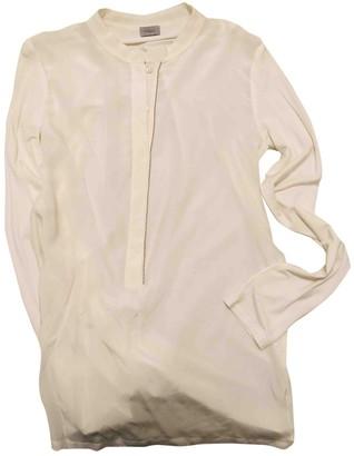 Marella Beige Silk Top for Women