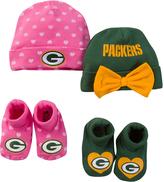 Gerber Green Bay Packers Pink Beanie & Booties Set