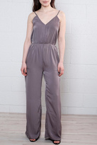 Everly Satin V Neck Jumpsuit