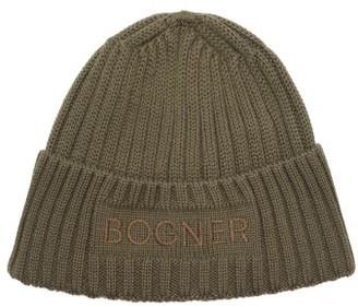 Bogner Enio Logo-embroidered Wool-blend Beanie Hat - Green