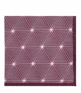 Reiss Bolton - Silk Printed Pocket Square in Red, Mens
