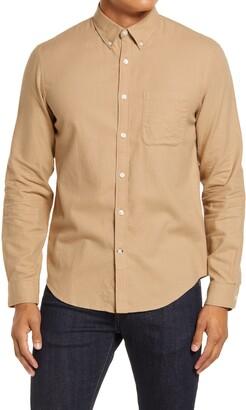 Club Monaco Slim Fit Solid Button-Down Flannel Shirt