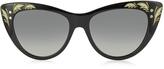 Gucci GG 3806/S 807DX Black Acetate Oversized Cat Eye Women's Sunglasses
