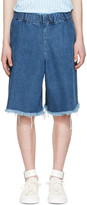 Marques Almeida Blue Denim Track Shorts