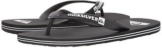 Quiksilver Molokai (Black/Black/White) Men's Sandals