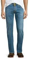 Jacob Cohen Yellow-Stitch Soft Washed Denim Jeans, Light Blue