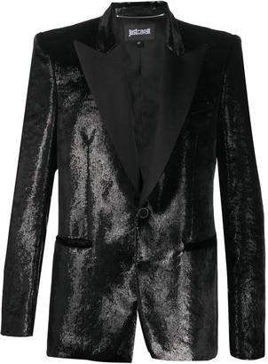 Just Cavalli Faux-Leather Blazer