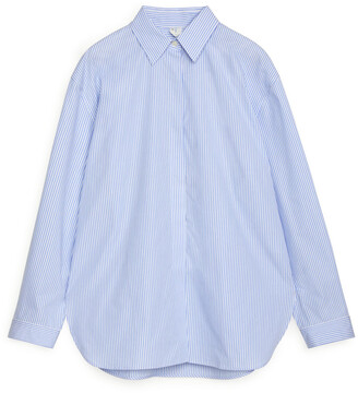 Arket Relaxed Striped Poplin Shirt