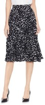 Vince Camuto Women's Animal Whispers Pleat Skirt