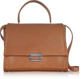 Jil Sander Open Brown leather Refold Top Handle Satchel Bag