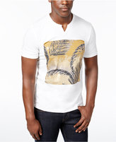 INC International Concepts Men's Split-Neck Graphic Print T-Shirt, Created for Macy's