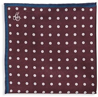 Canali Traditional Polka Dot Silk Pocket Square