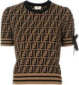 Fendi logo short-sleeve sweater