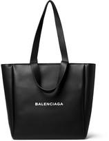Balenciaga - Printed Leather Tote Bag