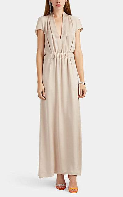 Giorgio Armani Women's Gathered Silk Satin Gown - Cream