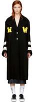 Off-White Black Varsity Grandpa Coat