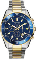 Bulova Mens Two-Tone Stainless Steel Chronograph Watch 98B230