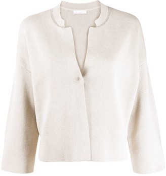 Fabiana Filippi Boxy Fit Cropped Sleeve Cardigan
