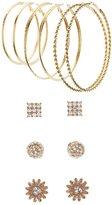 Charlotte Russe Hoop & Floral Stud Earrings Set