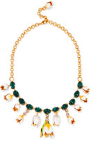 Dolce & Gabbana Gold-plated, Swarovski crystal and enamel necklace