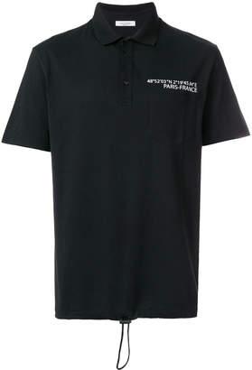 Valentino drawstring hem polo shirt