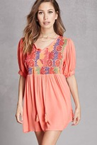 Forever 21 Embroidered Babydoll Tunic