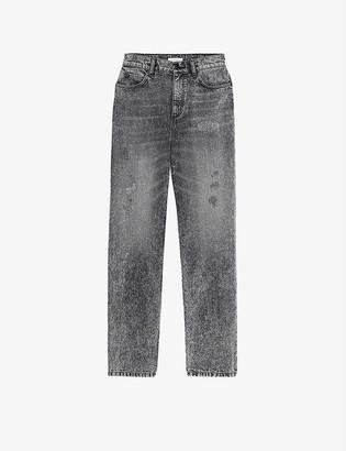 Sandro Lone distressed boyfriend jeans