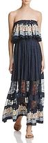 Freeway Ruffle Strapless Maxi Dress