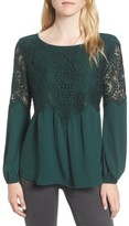 Chelsea28 Women's Button Back Lace Top