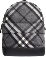 Burberry Check Felt & Leather Backpack