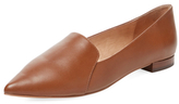 Pointed-Toe Leather Loafer
