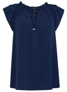 Dorothy Perkins Womens Navy Double Layer Top