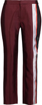 Raoul Paneled Silk-Blend Straight-Leg Pants