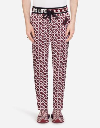 Dolce & Gabbana Jersey Jogging Pants With Logo Print