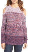 Rebecca Minkoff Women's Page Stripe Cold Shoulder Sweater